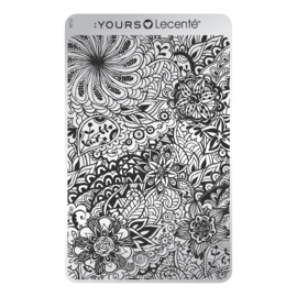 Yours Cosmetics - Stamping Plates - :YOURS Loves Lecenté - YLL04. Field of Flowers