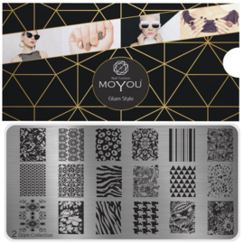 Moyou Nail Fashion - XL Stamping Plate - Glam Collection - 2