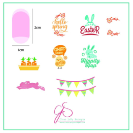 Clear Jelly Stamper - Stamping Plate - CJS_H12 Hippity Easter