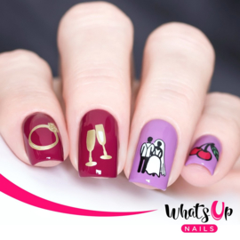 Whats Up Nails - Stamping Plate - A004 Sin City Life