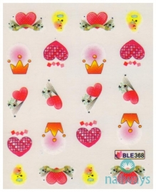 Waterdecals - Hearts and Crowns
