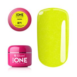 Base One - UV COLOR GEL - Neon - 21. Sparkling Lemon