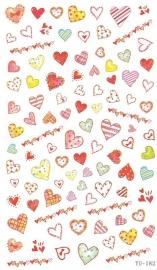 Waterdecals - Different Hearts