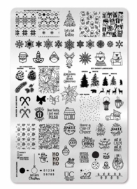 UberChic  - Big Nail Stamping Plate - Jingle All The Way