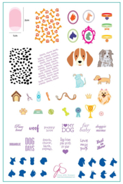Clear Jelly Stamper - Big Stamping Plate - CJS_LC23 - Puppy Love