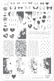 Clear Jelly Stamper - Big Stamping Plate - CJS_V14 - Dark Heart