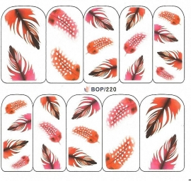 Waterdecals - Red Feathers