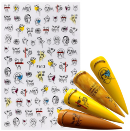 Nailways - Nail Stickers - F613 - Faces