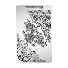 Yours Cosmetics - Stamping Plates - :YOURS Loves Sascha - YLS10. Curly Carnival