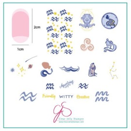 Clear Jelly Stamper - Stamping Plate - CJS_Z12 - Aquarius