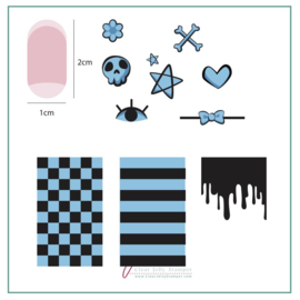 Clear Jelly Stamper - Stamping Plate - CJS_74 - Cutie