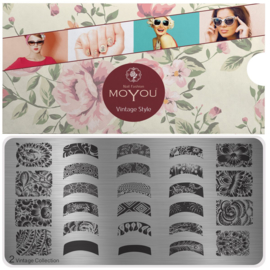 Moyou Nail Fashion - XL Stamping Plate - Vintage Collection - 2