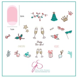 Clear Jelly Stamper - Stamping Plate - CJS_H61 - Cheers!