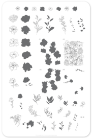 Clear Jelly Stamper - Big Stamping Plate - CJS_82 - Sketched Garden