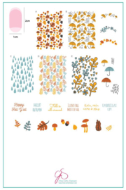 Clear Jelly Stamper - Big Stamping Plate - CJS_133 - Fallpaper - Happy Fall Y'all