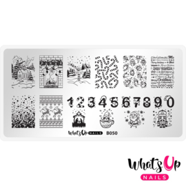 Whats Up Nails - Stamping Plate - B050 Count on me!