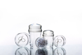 Clear Jelly Stamper - Crystal Stamper - Double Ended met Bling (2 in 1)
