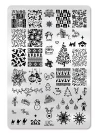 UberChic - Big Nail Stamping Plate - Holiday Spirit