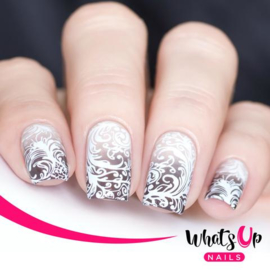 Whats Up Nails - Stamping Plate - B032 Floral Swirls