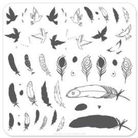 Clear Jelly Stamper - Stamping Plate - CJS_31 - Birds of a Feather