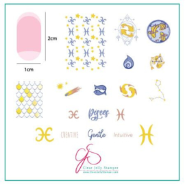 Clear Jelly Stamper - Stamping Plate - CJS_Z13 - Pisces