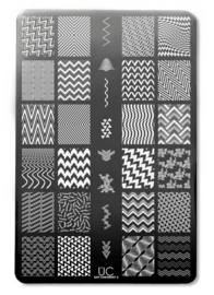 UberChic - Big Nail Stamping Plate - Got Chevron - 02
