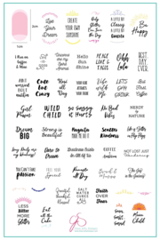 Clear Jelly Stamper - Big Stamping Plate - CJS_LC41 - Quote-A-Licious