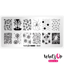 Whats Up Nails - Stamping Plate - B029 Picnic in the Park