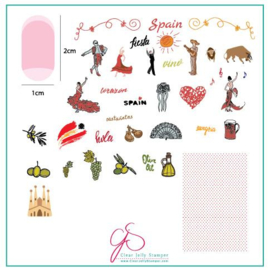 Clear Jelly Stamper - Medium Stamping Plate - CJS_LC64 - Viva Espana