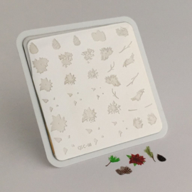 Clear Jelly Stamper - Stamping Plate - CJS_C08 - Pines & Poinsettias Christmas