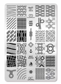 UberChic - Big Nail Stamping Plate - Nautic but Nice