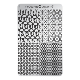 Yours Cosmetics - Stamping Plates - :YOURS Loves Lecenté - YLL05. Playful Four