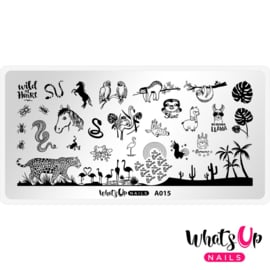 Whats Up Nails - Stamping Plate - A015 Amazonian Cuddlers