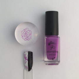 Clear Jelly Stamper Polish - #17 Lynnie Loves Lavender
