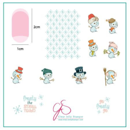 Clear Jelly Stamper - Stamping Plate - CJS_C40 - Do You Want to Build a Snowman?