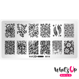 Whats Up Nails - Stamping Plate - B018 Field of Flowers