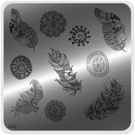 Moyou Nail Fashion - Stamping Plate - Ethnic Style - 442