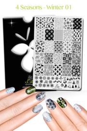 Lina - Stamping Plate - 4 Seasons - Winter 01