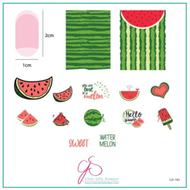 Clear Jelly Stamper - Medium Stamping Plate - CJS_182 - One in a Melon