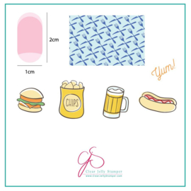 Clear Jelly Stamper -  Stamping Plate - CJS_64 Order UP!