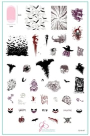Clear Jelly Stamper - Big Stamping Plate - CJS_H67 - Grunge Halloween