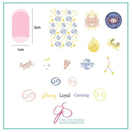 Clear Jelly Stamper - Stamping Plate - CJS_Z05 - Cancer