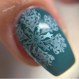 Clear Jelly Stamper - Big Stamping Plate - CJS_143 - Frozen Flakes