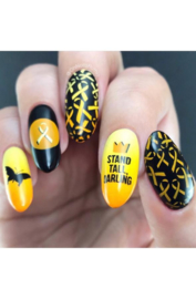UberChic - Big Nail Stamping Plate - Stand Together