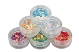 Nailways - Oval Glitter Dazzling Set - 6 kleuren
