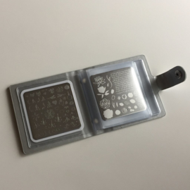 Clear Jelly Stamper - Snap - Small Holo Plate Holder - Holo Rose (6x6)
