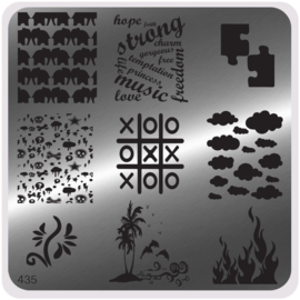 Moyou Nail Fashion - Stamping Plate - Trendy Style - 435