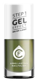 CF Gel Effekt Nagellak - Step 1 - 502. Olive Green