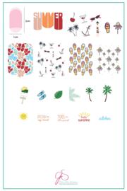 Clear Jelly Stamper - Big Stamping Plate - CJS_160 - Summer