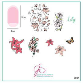 Clear Jelly Stamper - Stamping Plate - CJS_109 Lovely Lilies